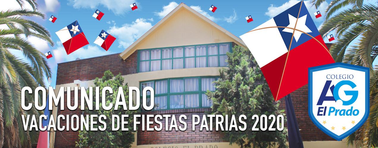Vacaciones de Fiestas Patrias 2020